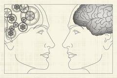 разумы механика Иллюстрация вектора