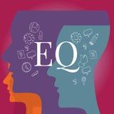 Разум коэффициента EQ эмоциональный иллюстрация вектора