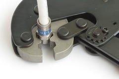 разъемы catv устанавливая инструмент Стоковое Изображение RF
