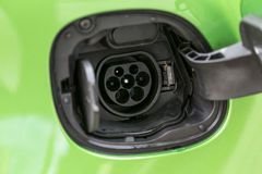 Разъем питания электрического автомобиля Стоковая Фотография RF