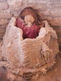 Разлагая тело в открытой могиле Стоковое Фото
