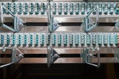 Раздатчик оптического волокна в datacenter Стоковое Изображение