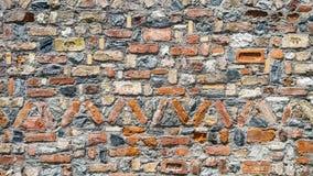 Разлад старых покрашенных стен Стоковое Изображение