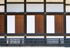 Раздвижные двери, японский дворец Стоковые Изображения
