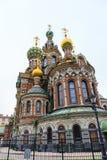 разленный спаситель крови святой petersburg России моста okhtinsky стоковые изображения