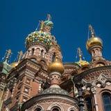 разленный спаситель церков крови святой petersburg России моста okhtinsky Стоковая Фотография
