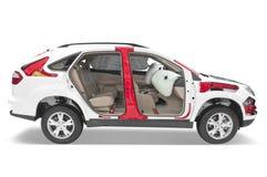 Раздел белого SUV. Стоковая Фотография