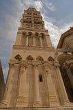 Разделение - дворец императора Diocletian - башня с часами стоковые фото