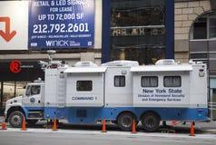 Разделение штат Нью-Йорк штат Нью-Йорк центра управления безопасности родины и чрезвычайных обслуживани передвижного во время Супе Стоковые Фотографии RF