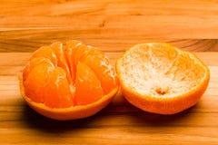 Разделение Tangerine Стоковые Фото