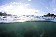 Разделенная вода взгляда стоковая фотография rf