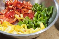 3 разделенного болгарского перца цвета Стоковое Фото