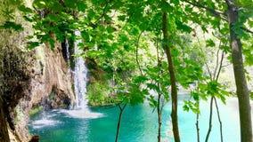Разделенное Загребом озеро Plitvice Стоковые Изображения