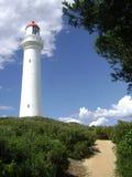 Разделенный маяк пункта, большая дорога океана стоковые изображения rf