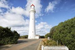 Разделенный маяк пункта, вход Aireys, большая дорога океана, Виктория стоковое фото rf