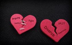2 разделенных сердца Стоковое Изображение RF