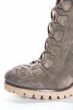 Разделите ботинки замши женщин (пальца ноги) Стоковые Фото
