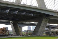 Раздел моста холма бункера Леонарда Zakim Стоковые Фотографии RF