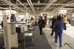 Раздел на IKEA, Сидней Австралия дизайна дома Стоковая Фотография