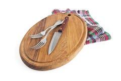 Разделочная доска и нож Стоковая Фотография
