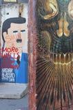 Раздел черепа Берлинской стены Стоковая Фотография