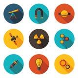 Разделы значков физики Стоковое Фото