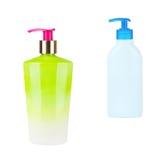 разливает пластмассу по бутылкам 2 Стоковые Изображения RF