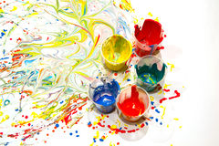 Разлитая краска Стоковое Фото