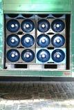 разлитая по бутылкам изолированная белизна воды Стоковые Фотографии RF