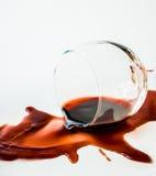 Разлитое вино Стоковое Изображение RF