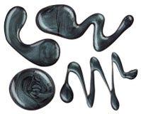 Разлитые помарки маникюра Стоковое Изображение RF