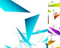 различная абстрактная геометрическая предпосылка 5 в цвете 5 Стоковое Изображение RF