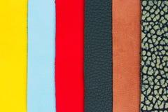 Различная кожаная текстура Стоковая Фотография RF