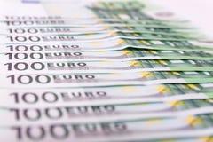 Различная предпосылка банкнот евро наличных денег Стоковая Фотография RF