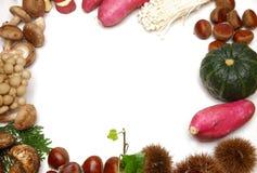 Различная рамка еды осени Стоковая Фотография RF