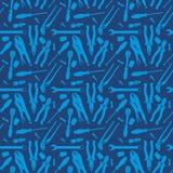 Различная синь картины инструментов Стоковые Фото
