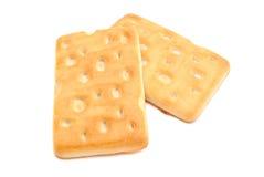 2 различное, вкусные печенья на белизне Стоковая Фотография