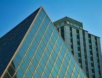 Различное здание, нескольк стиль камней и стекло Стоковое Изображение RF