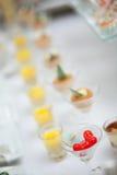 Различное очень вкусное закуски стоковая фотография rf