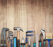 Различное плотничество и инструменты DIY стоковые фотографии rf