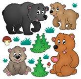 Различное собрание 1 темы медведей иллюстрация штока