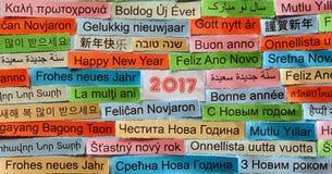 различное счастливое Новый Год языков стоковые фото