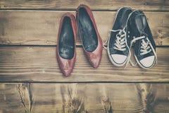 различные ботинки стоковое изображение rf
