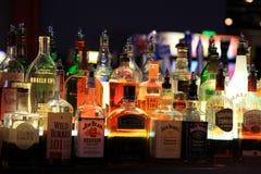 Различные бутылки ликера Стоковое Фото