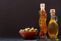 Различные бутылки оливкового масла Стоковые Фотографии RF