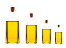 Различные бутылки размера с оливковым маслом Стоковые Фото