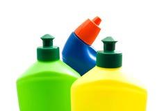 Различные бутылки тензида на белизне Стоковое Изображение