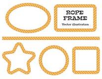 Различные веревочки рамки Стоковое фото RF