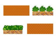 Различные виды каменной стены для сада Иллюстрация штока