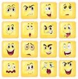 Различные выражения лица бесплатная иллюстрация